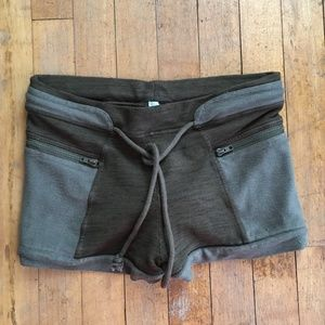 Free People comfy green shorts